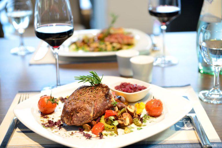 Abendessen Steak
