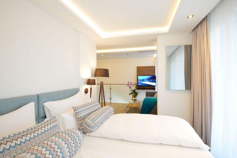 Maisonette mit Schlaf und Wohnzimmer